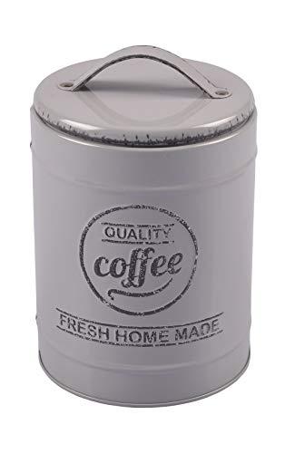 Unbekannt Metall Kaffeedose Vintage Kaffeebehälter Blechdose Vorratsdose Dekodose Teedose,...