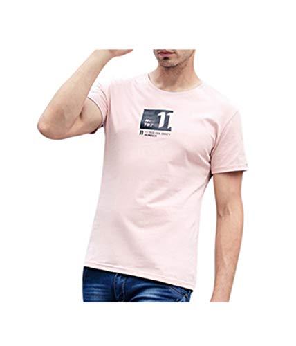 Fannyfuny Kurzarm T-Shirt Herren Rundhals Tee Tops Sommer Männer Crew Neck Brief Blumendruck t-Shirt Blusen Casual Muskel Slim Fit Fitness t Shirt Oberteil Tuniken O-Neck Shortsleeve M-XXXXL