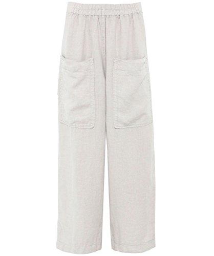 Grizas Da Donna Pantalone lino tasca ritagliata Beige Beige