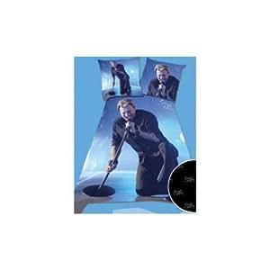 Housse de couette Johnny Hallyday 140x200cm avec taie