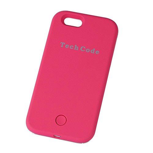 Samsung Galaxy S6Éclairage LED couverture de cas/Schutzhülle, elecfan Smart Étui de protection Téléphones avec éclairage LED illuminée Case, 2016projet de nouvelles rose rose