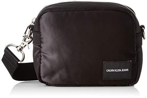 nisex-Erwachsene Satin Camera Bag Henkeltasche, Schwarz (Black) 8x16x12 cm ()