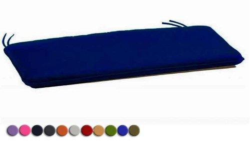 Arketicom 2 Coussins De Chaise et banquets Rectangulaire Avec 2 Lacets en mixte coton Couleur Gris 40x50x3 cm