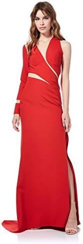 فستان سهرة نسائي منحني غير متماثل من بي يو
