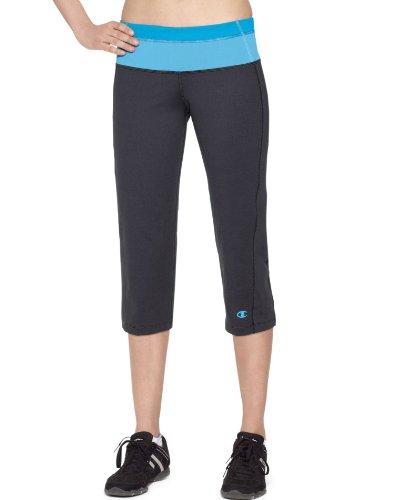 Champion Damen Hose * Gr. Small, Medium Grey/Cool Aqua/Baltic Blue (Champion Athletic Fitness Damen)