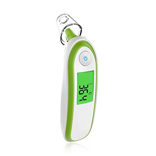 SONARIN Fieberthermometer Ohr und Stirnthermometer Digital Medical für Baby und Erwachsene,Fieberwarnung,klinische Überwachung,Instant Reading,CE und FDA zertifiziert(Grün)