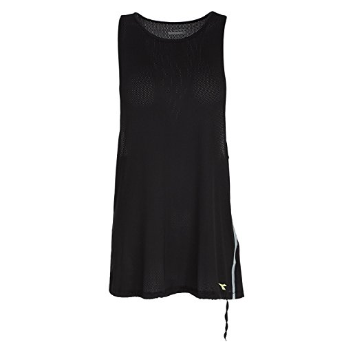 CANOTTA OVERSIZE TRAINING DONNA DIADORA L. LONG TANK Nero