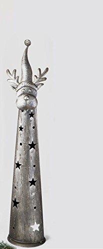 Formano Figur Rentier aus Metall Windlicht mit sterndurchbruch 80cm 502452 Weihnachtsdeko Dekoidee Geschenkidee Weihnachten Advent Deko Windlicht Elch Rentier
