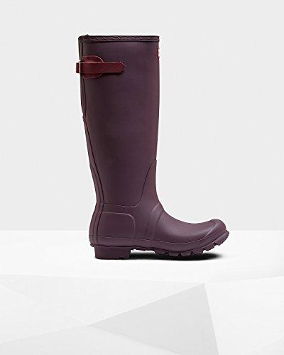 Adjustable Original Hunter Stiefel Damen Bright Violet Black Grape Back HExwBq1