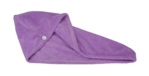 Hope Shine Microfiber Ultra Absorbent Large Hair Turban Wrap Towel Fast Drying (Purple) - Shine Waschen