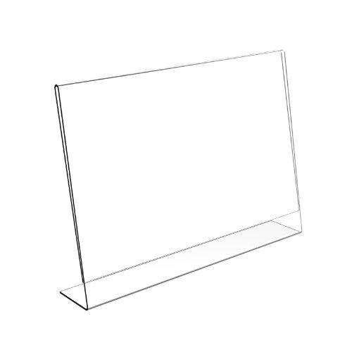 Displaypro Póster de la 5 x A6 horizontal que Lean soporte para cartas de menú lámpara de libro de and create mixtas - sobremesa de incluye protector de!