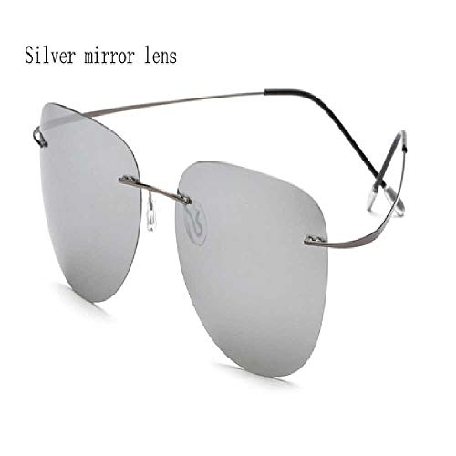 DUNDUNGUOJI Sunglasses Herren Sonnenbrille Titan Polarisierte Sonnenbrille Rahmenlose Herren Sonnenbrille Brille gris