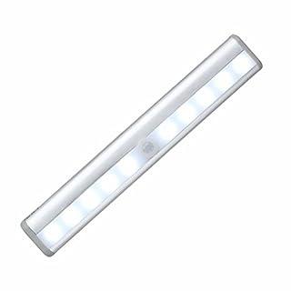 Motion Sensor Nachtlicht - batteriebetriebene Bewegung aktiviert Nachtlicht Closet Leuchte Wandleuchte Schritt-Licht für Kabinett, Bad, Garage, Schrank, Treppe, Küche, Outdoor, Camping (Silber-)