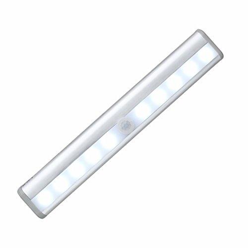 Motion Sensor Nachtlicht - batteriebetriebene Bewegung aktiviert Nachtlicht Closet Leuchte Wandleuchte Schritt-Licht für Kabinett, Bad, Garage, Schrank, Treppe, Küche, Outdoor, Camping - Sensor Garage Licht