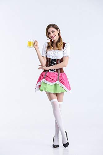 Ruanyi Bier Mädchen Kostüme deutsche Bier Kleid Halloween Cosplay Maid Service für Frauen (Size : M)