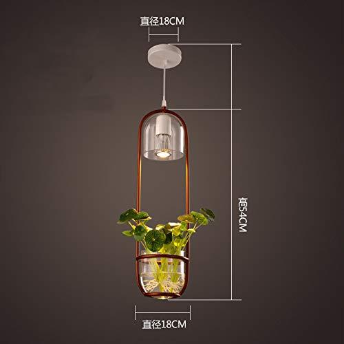 Lamp Plant Chandelier Retro Creative Personality Restaurant lamp Modern Simple Single Head lamp Decoration Green Planting lamp Gold Code