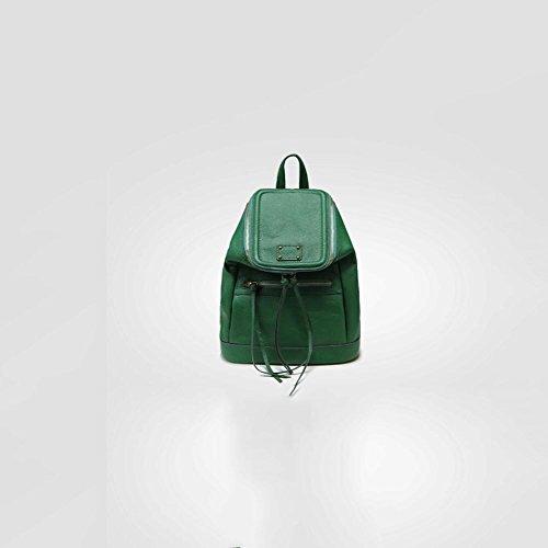nuova borsa di pelle zaino tassel semplice corrispondono tutti in europa,grigio scuro green