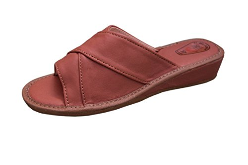 Natleat Slippers  16, Chaussons sandales fille femme Marron 2