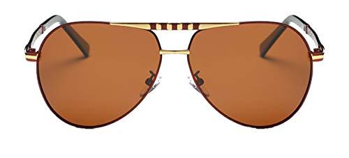 Saino Mädchen Vintage Rund Brillen Oversized Polarisierte Metalllegierung Schutz Optimal Dekogläser Damen