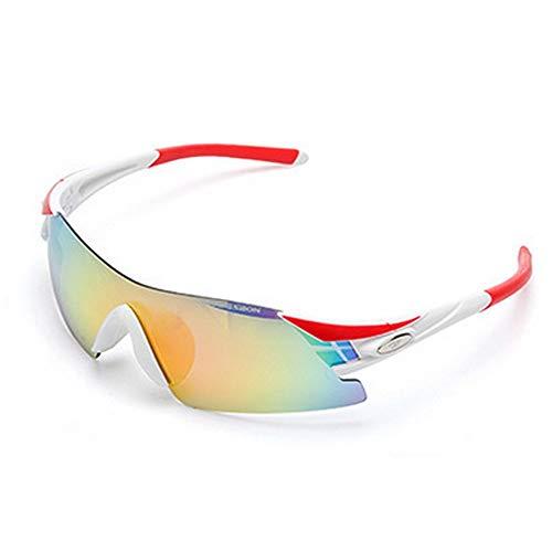 BJYG Sportsonnenbrille Classic Fashion Outdoor Sports Rahmenlose polarisierte Sportsonnenbrille mit 5 Wechselgläsern für erholsamen Urlaub Geeignet für Männer und Frauen Clip-on UV-Schutz Sonnenb
