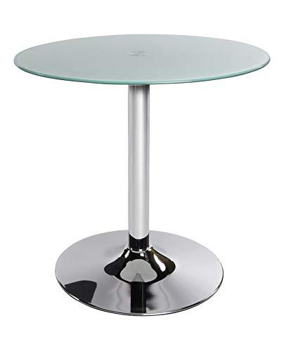Kokoon CT00030WH Vinyl Table d'Appoint Verre Blanc 70 x 70 x 70 cm