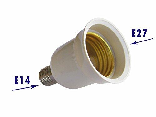 Adaptador para bombillas de E14a E27