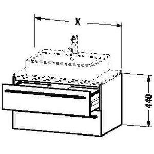 Hickory 2 Schublade (Duravit x-large Waschtisch Unterbau 600x 478Amerikanisches Hickory 2Schubladen)
