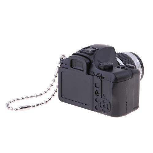 Fenteer Miniatur Digitalkamera Spiegelreflexkamera Möbel Modell Zubehör Für 1:3, 1:4, 1:6 Blythe BJD Puppen - Schwarz - 2, A