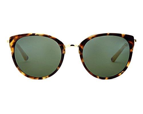 Etnia Barcelona Princesa LEBE, Leopard/Beige, 53-21mm, Round, Sunglasses