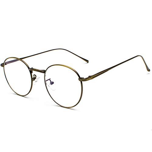 Volon Brille Retro Glasrahmen-Ebenenspiegel Dekobrille Nerdbrille Klassisches Rund Rahmen...