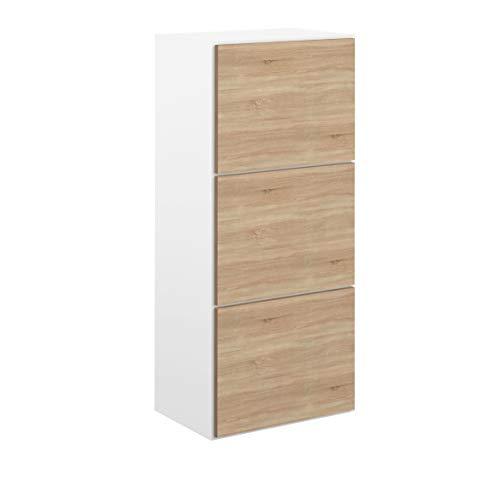 Movian odiel - scarpiera, 50 x 33.1 x 118.7 cm (l x p x a), colore bianco e quercia