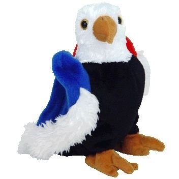 Ty Beanie Babies - Free the Eagle with Black Chest Red & Blue Wings by - Blue Eagle Wings