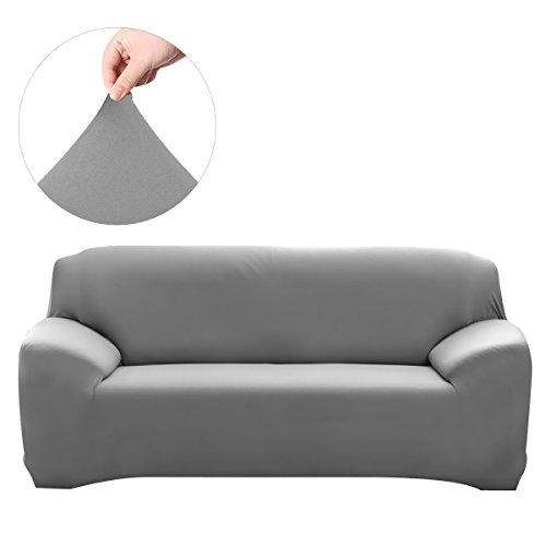 Winomo fodera per divano copridivano copertine 3 posti copertura di elasticità coperchio protezione del mobiletto (grigio)