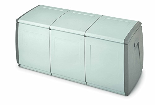 TERRY & out Box 140 Baule Plastica Grigio/Tortora 139 x 54 x 57