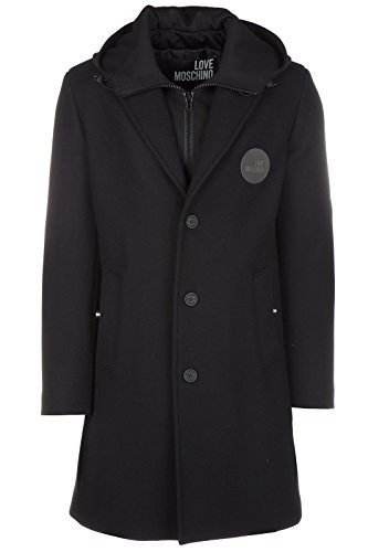Love Moschino cappotto uomo in lana originale nero EU 48 (UK 38) M K 132 01 T 8673 C7