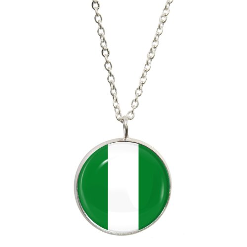 nigeria-flag-design-pendant-and-silver-plated-necklace-set