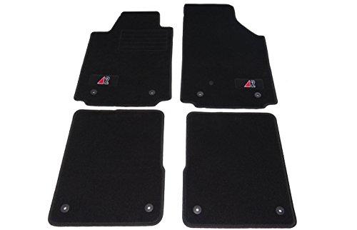 Auto Fußmatten Velours mit Logo Set 4-teilig passgenau, schwarz