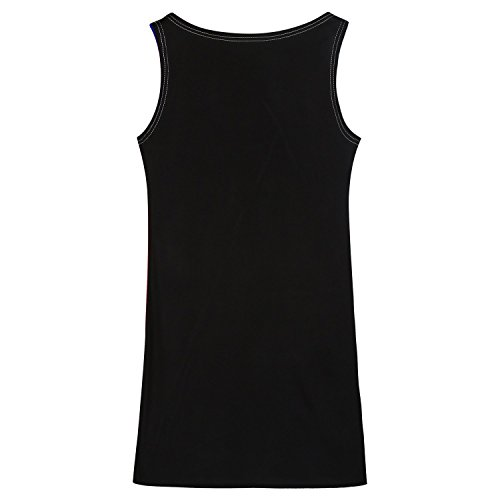 Elite99® - Robe - Trapèze - Femme Noir Noir Noir - Bleu