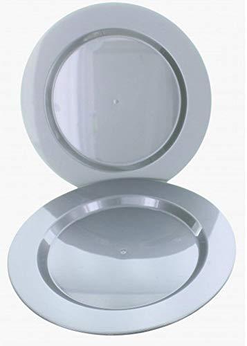 Fetez moi - 6 assiettes maje PS rigide grises - 26 CM
