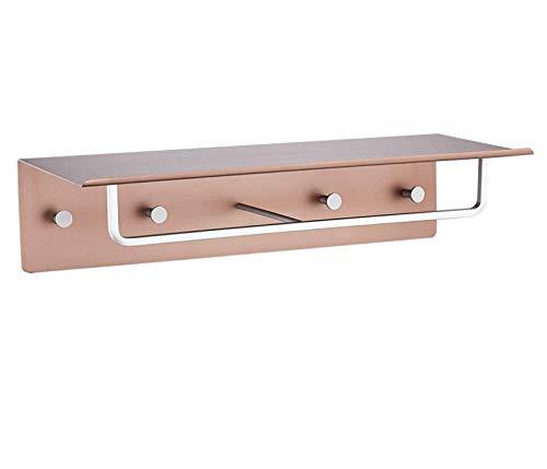 Amgend Portasciugamani Spazio Alluminio Bagno Portasciugamani 2 Strati Bagno Rack Hardware Accessori per il bagno Nero perforato