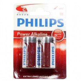 Philips - Blister de 2 piles LR14 Alcaline