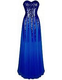 689c6cfb97fa6f Angel-fashions Damen New Gold Sequin Schatz Kult Lace up bodenlangen Kleid