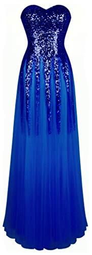 Angel-fashions Damen Pailletten Schatz Schleier Bandage Ballkleid Hochzeitskleid Large Dunkelblau
