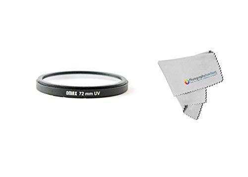 Omax 72mm Ultra Violet UV Filter + Free Photography Junction Micro Fiber Cloth for Canon EF-S 15-85mm f/3.5-5.6 IS USM, Canon EF-S 18-200mm f/3.5-5.6 IS, EF  available at amazon for Rs.391