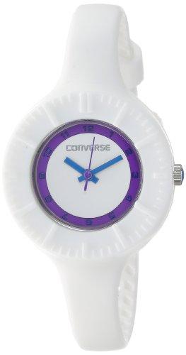 Converse R1151103545 – Reloj con correa de caucho para mujer, color blanco/gris