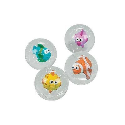 Fun Express in-16–1202Tropische Fische Bouncing Balls, 35mm Mehrfarbig