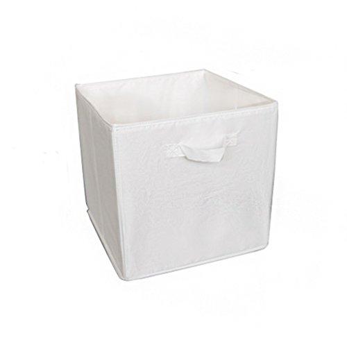 DWW-Panier de rangement Boîte de rangement en tissu vêtements finition boîte de rangement peut transporter des jouets paniers de rangement (Couleur : Blanc)
