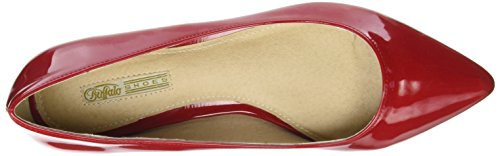 Buffalo Shoes H690a-30 P2010l Patent, Ballerine Donna Rosso (Red)