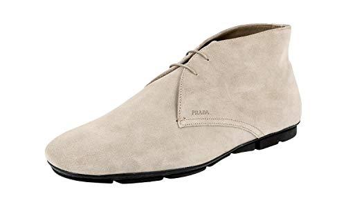 Prada Herren 2TD004 103 F0193 Halbstiefel Leder, Beige (Pietra), 40 EU - Schuhe Prada Kleid Männer