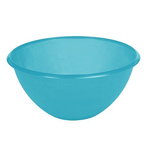 OKT 2053852 Saladier 6 l en Bleu-Transparent Plastique